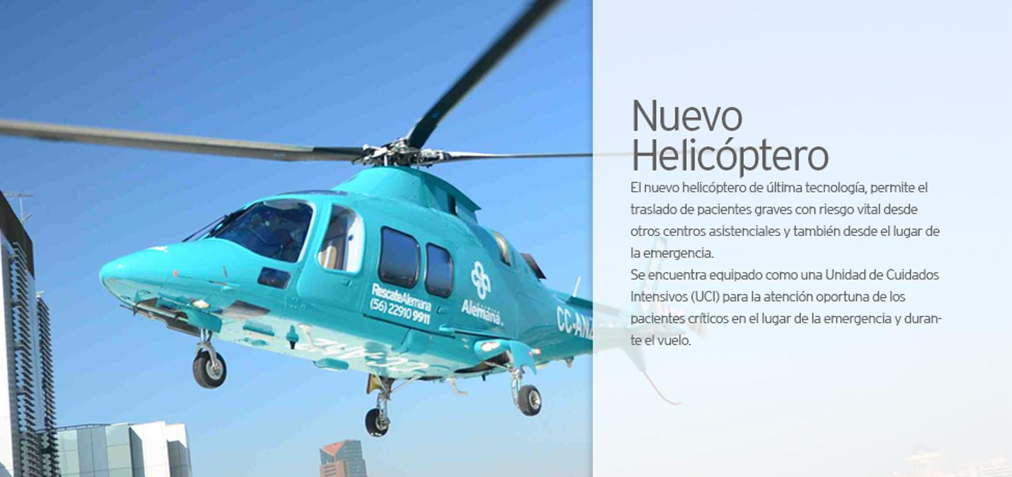 Unidad de Rescate - Landing | Clínica Alemana de Santiago