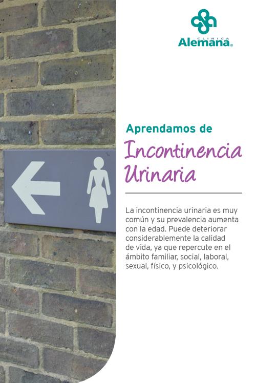 incontinencia orina urinaria mujer