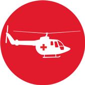 Ícono rescate aéreo sin costo ne caso de riesgo vital